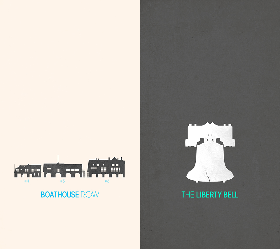 Iconic Philadelphia Poster Set (detail view)