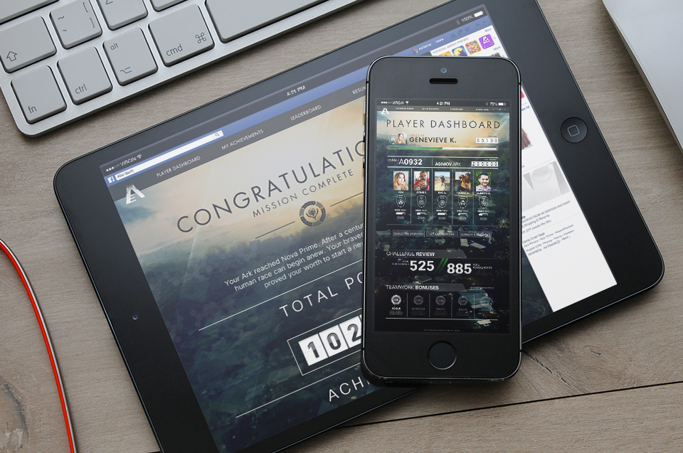 After Earth Facebook Game UI